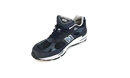 Sneaker New Balance 991 in pelle e suede blu Blau