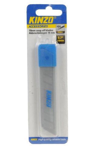 Kinzo 71844 10 Lames de rechange pour cutter 18 mm