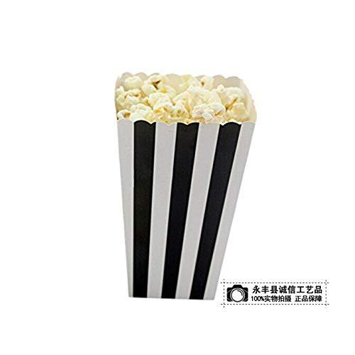 Kakiyi 12PCS / Set Popcorn Box Süßigkeit sanck Favor Taschen Streifen-Geschenk-Beutel Hochzeitsfestbevorzugung Kinder Kino Party Supplies