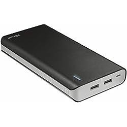 Trust Urban Primo - Cargador portátil con 2 puertos USB y batería de 20000 mAh, color negro