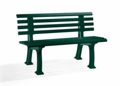 Parkbank aus Kunststoff – mit 9 Leisten – Breite 1200 mm, weiß – Bank Bank aus Holz, Metall, Kunststoff Bänke aus Holz, Metall, Kunststoff Gartenbank Kunststoff-Bank Kunststoff-Bänke Ruhebank - 2
