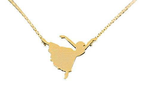Ballerina Collana-azballerina collana, ballerina pendente collana, ballerina pendente gioielli, ballerina forma gioielli, fascino collana, cristallo collana, moda collana, mamma collane, fes