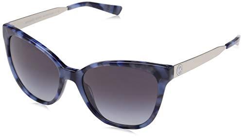 Michael Kors Damen NAPA 331011 55 Sonnenbrille, Navy Marble/Greygradient,