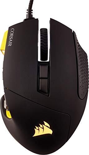 Corsair SCIMITAR PRO RGB Optique Souris Gaming (Rétro-Éclairge RGB Multicolore, 16000 DPI) Noir/Jaune
