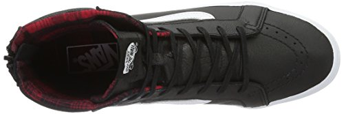 Vans U SK8-HI SLIM ZIP PERF LEATHER, Sneakers Basses mixte adulte Noir (Plaid Flannel)