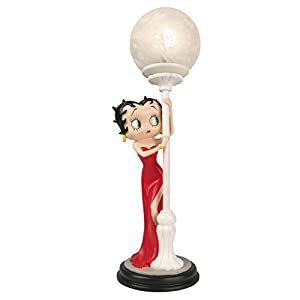 31ap2d mBaL. SS300  - Betty Boop Hide & Seek Figurine Table Lamp Red Dress 48cm - Collectable