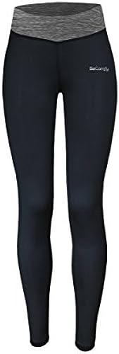 BeComfy Damen Fitness Gym Hose SPORT Leggings   Dehnbar & Atmungsaktiv   Blau Rosa Grau S M L (Option mit Geschenkbox...