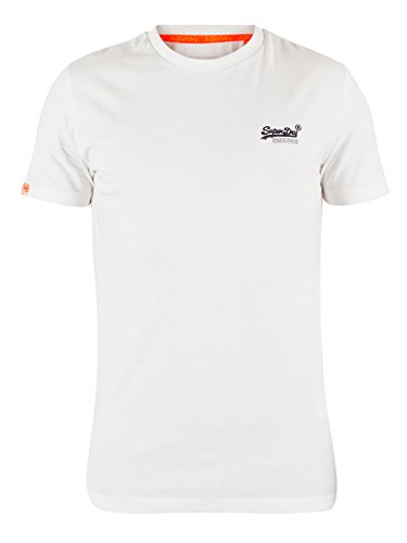 Superdry Herren T-Shirt Orange Label Vintage Emb Tee Weiß