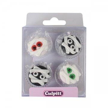 Halloween Button Sugar Pipings - 12 Piece -
