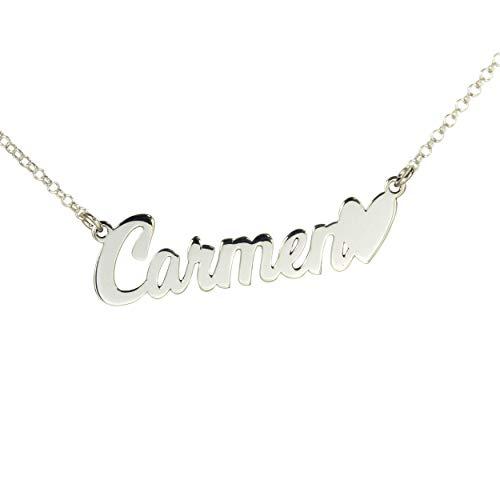 98698b61b0c8 Personaliza collar con tu nombre en plata de ley 925 ENVÍO GRATIS