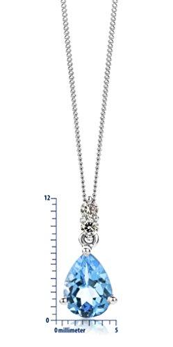 Miore - Collier Femme  375/1000 (9 carats) Topaze bleu