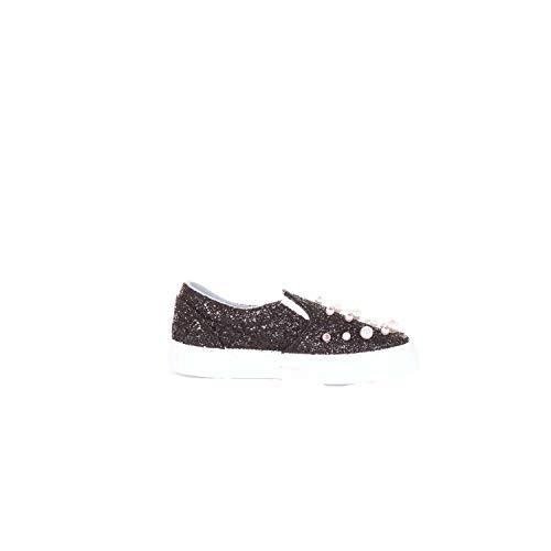 Chiara Ferragni Femme CF1693BLACK Noir Sequins Chaussures De Skate