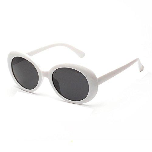 jgashf Runde Retro Lennon Sonnenbrille Vintage Polarisierte Linsen Metallgestell Rund Brille Hippi Brille Outdoor-Brille FüR Frauen Und MäNner (Weiß)