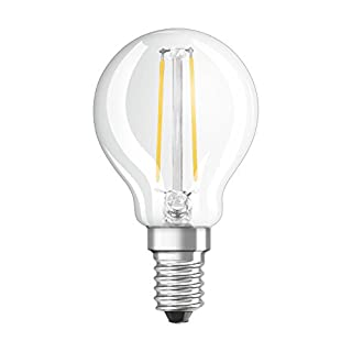 Osram LED Retrofit Classic P/LED Lamp, Classic Mini Ball Shape: E14, 1.10 W, 220 to 240 V, 15 W Replacement, Clear, Warm White, 2700 K, Pack of 1