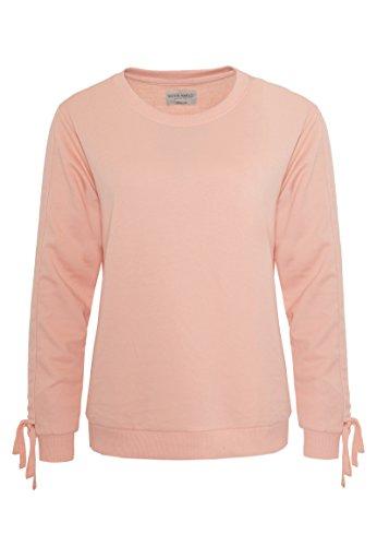Rock Angel Damen Sweatshirt KAJA | Leichter Sweat-Pullover mit Raffung & Schnürung Light-Rose L
