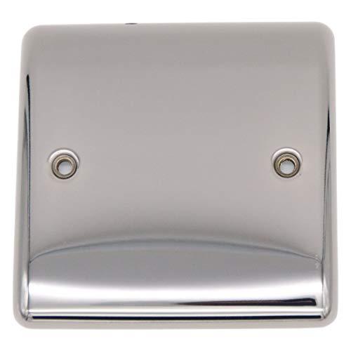 Sinoe Electrical BV401GME 1-fach poliertes schwarzes Nickel blanko 2 Gang Blank Plate