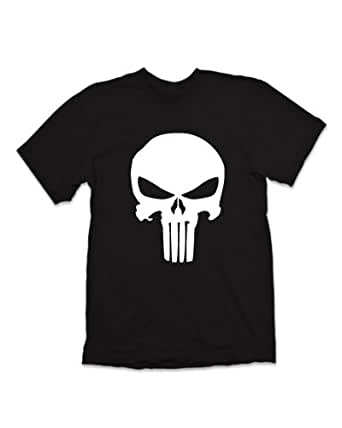 The Punisher Skull Logo Marvel Comics T-shirt - Black (2XL)