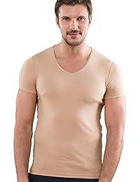 SAPREZA Maillot de Corps (T-Shirt) Chair (Invisible) col v, 60d6222e32f3