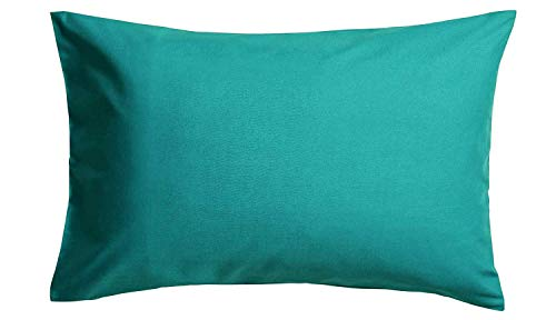 Roy Textile Ltd - Fundas de Almohada de percal de fácil Planchado, poliéster algodón, Verde Azulado...
