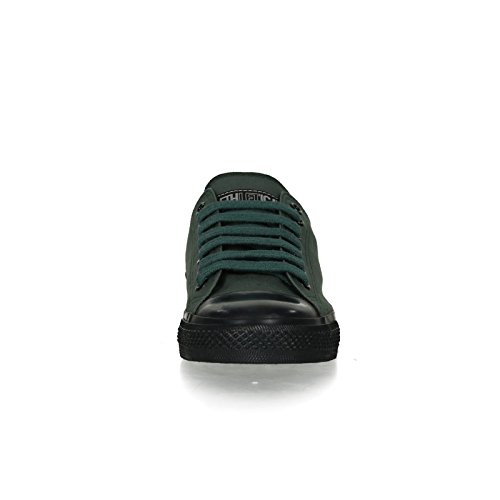 Ethletic Black Cap vegan LoCut Collection 17 - Farbe reseda green / jet black aus Bio-Baumwolle Größe 37 - 6