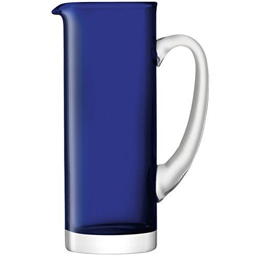 obalt 53 oz./1.5ltr, groß, handgefertigt, blaues Glas Krug ()