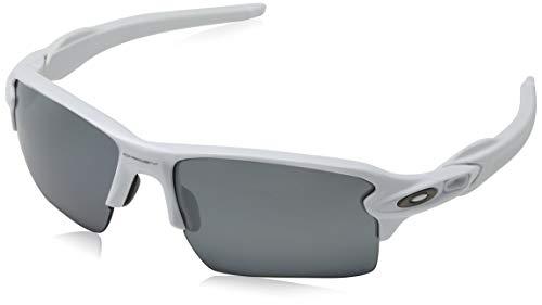 Oakley Herren Flak 2.0 Xl 918876 59 Sonnenbrille, Weiß (Polished White/Prizmblackpolarized),