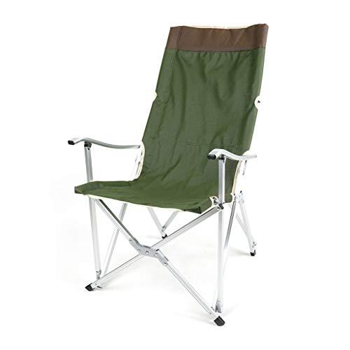 CATRP Marke Im Freien Falten Stühle Aluminiumlegierung Halterung Freizeit Sessel Für Camping Fischen Strand, 2 Farben (Farbe : Green)