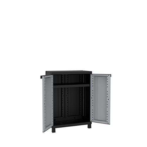 Terry Twist Black 680 Armadio Basso in Plastica Tuttopiani Grigio//Tortora 68 x 39 x 91.5 cm