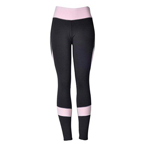 Rawdah Pantalon De Yoga Coutures Mode Femmes Leggings Taille Haute Élastique Yoga Fitness Sports Pantalons Trousers Pants pour Femmes