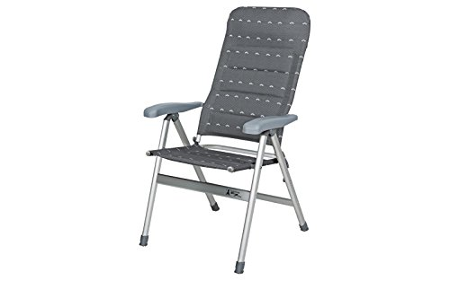 EA Klappstuhl Premium Comfort Faltstuhl bis 120kg 5-fach verstellbar Alu Campingstuhl Sitzfläche B 48 x T 40 cm