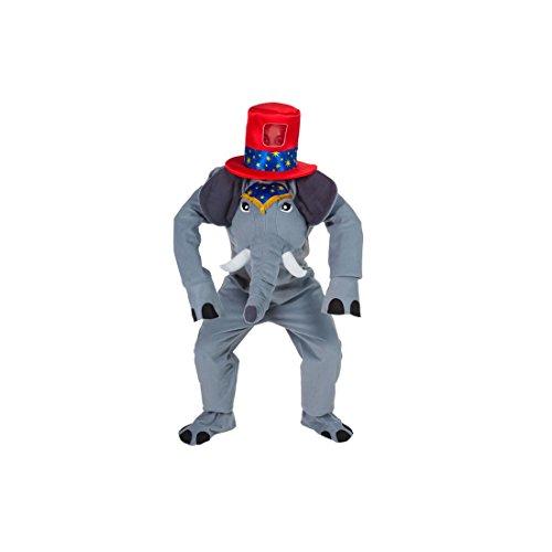 �m mit Hut - Lustiges Elephanten Kostüm für Erwachsene (Riesen Clown Hut)