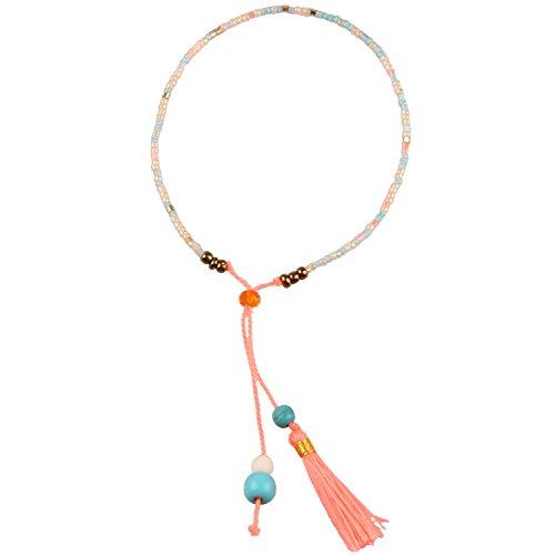 Kelitch Gewebte Freundschaft Armband Frauen Schnur Achat Sead Perlen Wachs Seil Handgemachte Geflochtene Einstellbare Armband Frauen Geschenke