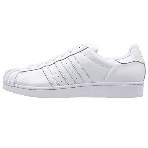 adidas Originals Superstar by Pharrell Williams S75337 Herren Sneaker Weiß Übergrößen, Größe:47 1/3 EU