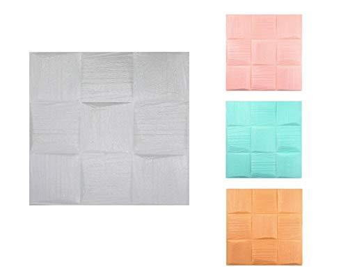 3D Tapete Wandpaneele selbstklebend - Moderne Wandverkleidung in Steinoptik in 4 verschiedenen Farben - schnelle & leichte Montage (12x Stück, Türkis) -