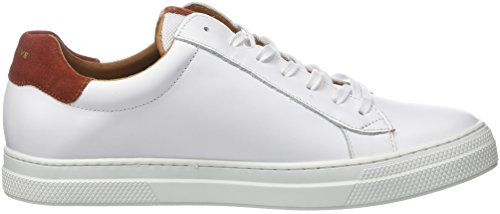 Schmoove Spark Clay Nappa/Suede, Baskets Basses Homme Blanc (white/rust)