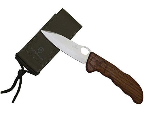 Victorinox Holz Taschenmesser Hunter Pro (Grosse/Starke Einhand-Feststellklinge, Nylon Etui) -