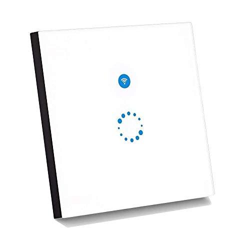 Sonoff Touch Lichtschalter Kompatibel mit Alexa [Echo, Echo Dot] und Google Home Wireless Lichtschalter Glas Touchscreen Lichtschalter LED Licht Wandschalter Touch Panel Schalter - Weiß