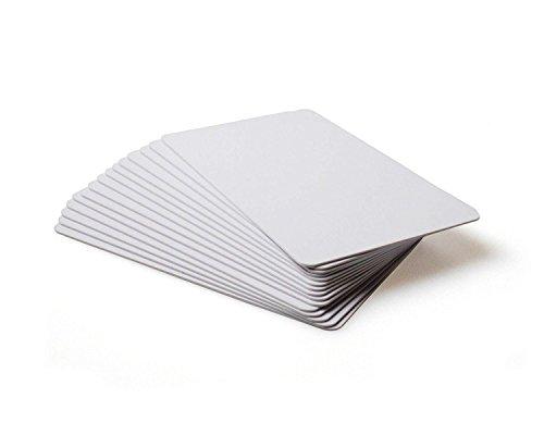 Waizmann.IDeaS® 10x Kartenrohling Plastikkarte Rohling EC-Karte Premium PVC 86 x 54 x 0,76mm CR80 glänzend laminiert bedruckbar weiß 760 micron 30 mil (Karten Laminierte)