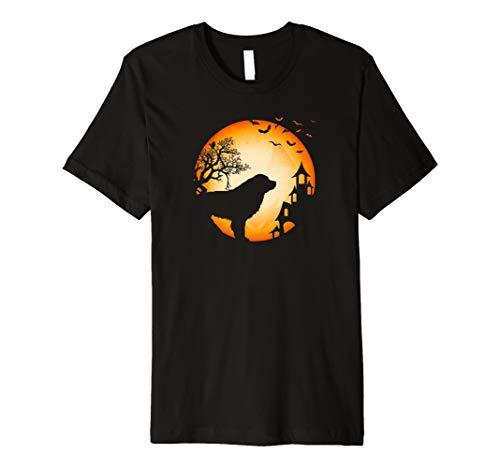 Berner Sennenhund Halloween T-Shirt Hunde-Silhouette Mond