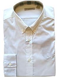 Burberry Brit Camicia Manica Lunga Uomo Modello Cambridge 3983210 Bianco  tg. L 1150b5fbe7b