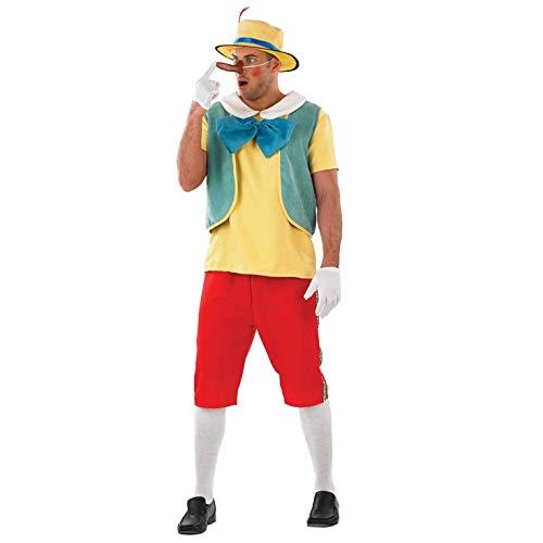 Pinocchio Für Erwachsene Kostüm - Fun Shack Herren Costume Kostüm, Mens Real Boy Puppet, XL