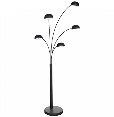 kokoon-fl00200bl-lampe-de-sol-design-bush-noir-en-metal
