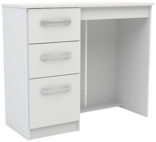 Birlea lynx - moderna scrivania con 3 cassetti, colore: bianco