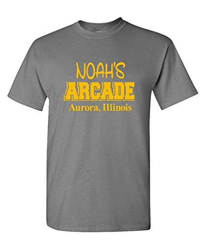 XCVNBX Noahs Arcade - Wayne Funny Show Movie Joke - Mens Cotton T-Shirt S
