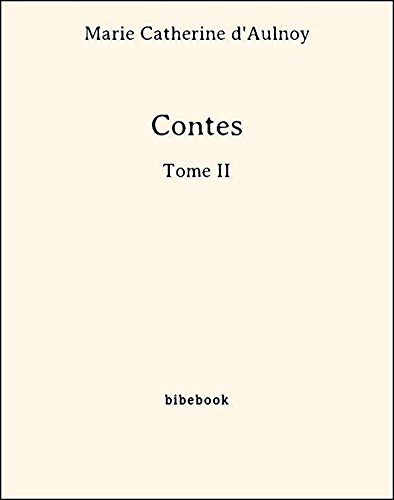 Couverture du livre Contes - Tome II