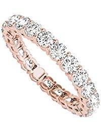 Ladies Full Circle Diamond Eternity Ring 14K Rose Gold
