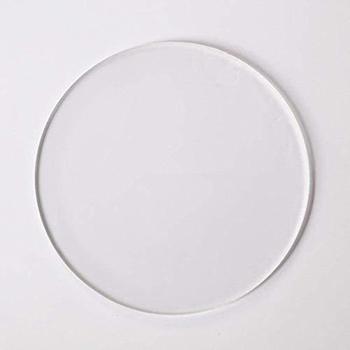 Acryl-Plexiglas-Scheiben, rund, Acryl-Unterseite, Acryl-Scheiben, Plexiglas-Kreise, 3 mm dick, 20 Stück 8 cm farblos