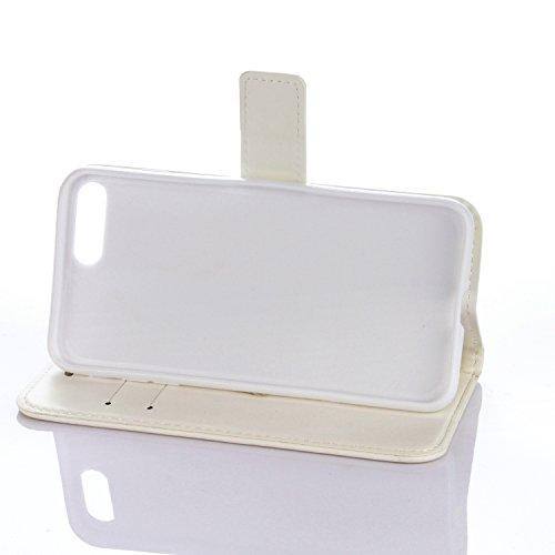 PU für Apple iPhone 7 Plus (5.5 Zoll) Hülle,Geprägte Campanula Handyhülle / Tasche / Cover / Case für das Apple iPhone 7 Plus PU Leder Flip Cover Leder Hülle Kunstleder Folio Schutzhülle Wallet Tasche 4