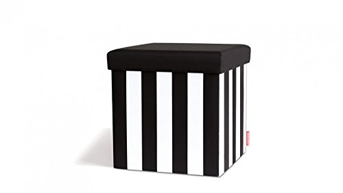Remember sitting box sgabello contenitore black white