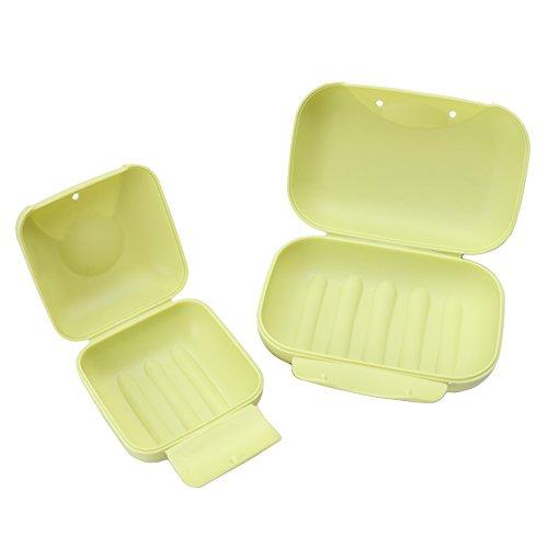 Golden Rule Seife Box Gerichte für Badezimmer Dusche Reisen Outdoor Wandern Camping Tragbare Fall Halter Container (Grün)